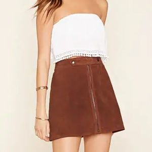 🍂 70s Style Real Leather Skirt